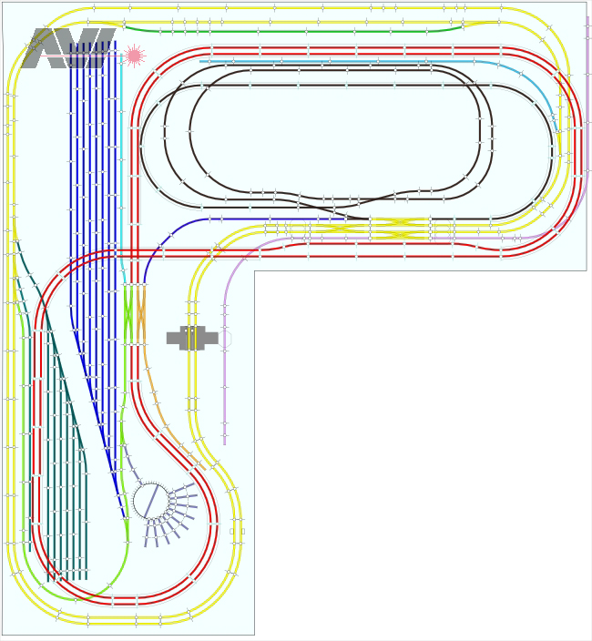 Ho scale layouts, polly scale paints, tomix n scale turntable